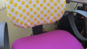 Chair Slip Cover Pattern by Make Cute Office Chair Covers Diy Home Guidecentral Youtube