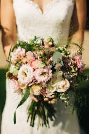 Rustic Peach Brides Bouquet