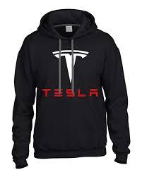 tesla hooded sweater sweatshirt hoodie technik apparel
