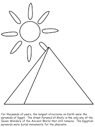 Pyramid Egypt Coloring Pages