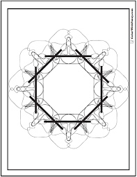 Free Coloring Pages Geometric Designs Octagon Shape