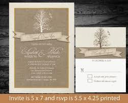 Rustic Winter Wedding Invitation