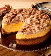Pumpkin Pie With Pecan Praline Topping by Praline Pumpkin Cheesecake Recipe Pumpkin Cheesecake Pecans