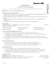 Resume Career Summary Examples Accounting Of In Qualifications Server Sample