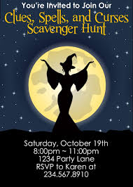 Halloween Treasure Hunt Clues Free by Clues Spells And Curses Scavenger Hunt