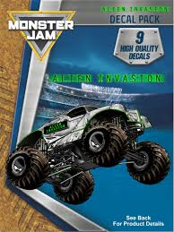 Monster Jam Alien Invasion Trucks Decal Pack | Monster Jam, Truck ... Monster Jam Giant Wall Decals Tvs Toy Box Bigfoot Truck Body Wdecals Clear By Traxxas Tra3657 Stickers Room Decor Energy Decal Bedroom Maxd Pack Decalcomania 43 Sideways Creative Vinyl Adhesive Art Wallpaper Large Size Funny Sc10 Team Associated And Vehicle Graphics Kits Design Stock Vector 26 For Rc Cars M World Finals Xvii Competitors Announced All Ideas Of Home Site Garage Car Unique Gift