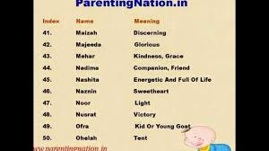Muslim Baby Girl Names With Meanings YouTube