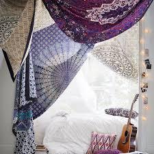 Printed Tapestries Purple Pink