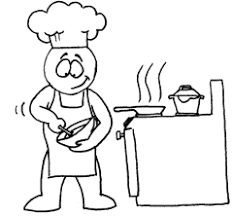 Cooking class clipart with black people