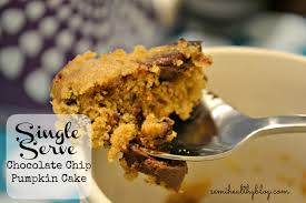 Pumpkin Spice Keurig Nutrition by Single Serve Chocolate Chip Pumpkin Cake In A Mug