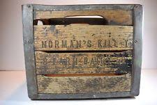 Vintage Wood Milk Crate Box NORMANS KILL T8 FARM DAIRY