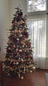 Frontgate Artificial Christmas Trees Theme Ideas Burgundy Ruby Red Maroon Gold And Silver Tree