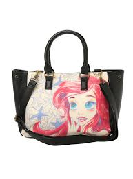 disney loungefly ariel sketch tote bag disney pinterest