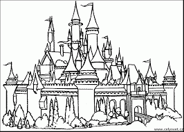 Castle Coloring Pages Incredible Cinderella With Line Drawings