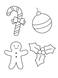 Pin Drawn Christmas Ornaments Color Cut Out 4