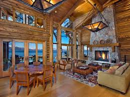Simple Log Home Great Rooms Ideas Photo by 10 Luxe Log Cabins To Indulge In On National Log Cabin Day