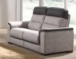 canapé 2 places relax canapé 2 places relax gris et noir en tissu mozart canapé relax