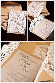 Lace Doily DIY Wedding Invitations Pinterest