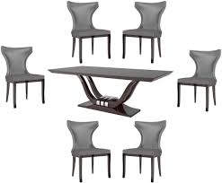 casa padrino luxury dining set silver brown 1 dining table 6 dining chairs luxury quality luxury dining room furniture