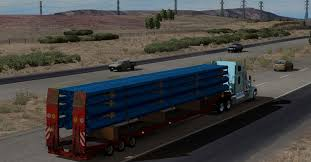 100 Truck Tubes Large Blue PVC Mod Trailer Euro Simulator 2 Mods