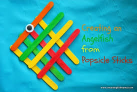 Angelfish From Popsicle Sticks