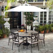 Square Patio Tablecloth With Umbrella Hole by Awesome Patio Furniture Round Table For Home U2013 Round Patio Tables