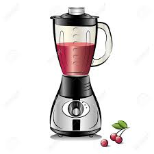Simple Black And White Blender Cartoon Royalty Free Cliparts