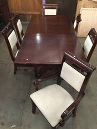 Ashley Furniture Industries Cherry Wood Dinning Room Table W/ 1 Leaf ... Kitchen Ding Room Fniture Scdinavian Designs Cape Cod Lawrence Dark Cherry Extension Table W6 Tom Seely Solid W 6 Chairs Sets And Chair Dock86 Universal Upscale Consignment 26 Big Small With Bench Seating 2019 Gently Used Ethan Allen Up To 50 Off At Chairish East West Nido6bchw Pc Ding Room Set Bkitchen Tables 4 Plus Bench In Black Cherryfinishblack And Cm88 Roccommunity Steve Silver Tournament Arm Casters Set Of 2 Oval American Drew Cherry 7 Pieces Used Leaf Finish Glass Top Modern Woptional Items