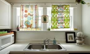 Kitchen Curtain Ideas For Bay Window kitchen window treatment valances hgtv pictures ideas they design