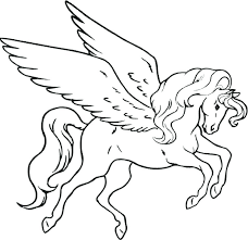 Unicorn With Wings Coloring Pages Page Download