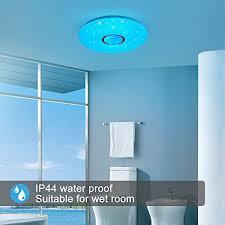 led deckenleuchte dimmbar 24w bluetooth deckenleuchte farbwechsel deckenle mit fernbedienung ip44 wasserfest badzimmer le ohne app