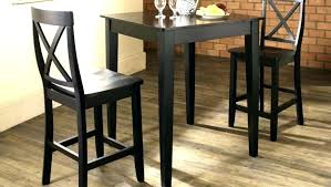 High Top Table With Bench Bar Height Large Size Of Delectable
