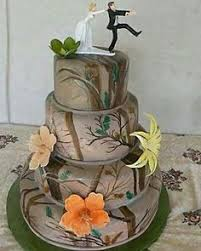 Camo Wedding Cake Like The And Colors Maybe A Different Topper These Would Be Cute To Use As Accent Peachy Creamy Oranges