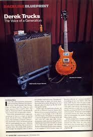 100 Derrick Trucks Derek Allman Brothers Guitar Rig December 2003 Guitar One