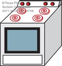 Drawing Of A Stove The Type One Would Find In Typical Home Kitchen