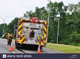 100 Fire Truck Accident Truck At Roadside Accident Stock Photo 50955093 Alamy