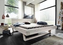 balkenbett slesvig massivholz weiß lasiert 140x 200 cm aussenmaß 162x85x222cm
