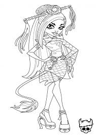 Jinafire Long Monster High Coloring Page