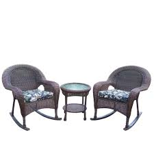 Oakland Living Resin 3-Piece Wicker Patio Rocker Set With Black ... Wicker Rocking Chair Grey At Home Windsor Black Rocker And End Table Set With Patio Resin Steel Frame Outdoor Porch Noble House Harmony With White 3pc Cushion Good Looking Glider Big Plans Sw Chairs Lounge Dark Brown Amazoncom Cloud Mountain 3 Piece Bistro Decorating Rockers Gliders Coral Coast Casco Bay