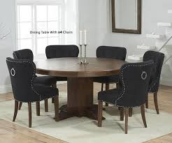 Mark Harris Turin Solid Dark Oak Dining Set - 150cm Round Pedestal ... Oak Round Ding Table In Brown Or Black Garden Trading Extending Vintage And Coloured With Tables Glass Square Wood More Amart Fniture Serene Croydon Set 4 Marlow Faux Leather Eaging Solid Walnut And Chairs White Outdoor Winston Porter Fenley Reviews Wayfair Impressive 25 Levualistecom Amish Merchant Oslo Ivory Leather Modern Direct Rhonda In Blacknight Oiled Woood Cuckooland Chair Seats Round Extending Ding Table 6 Chairs Extendable