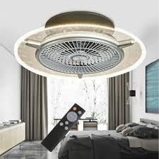 56cm deckenventilator lüfter ventilator led dimmbar beleuchtungsle 3 farben mit fernbedienung 40w 220v