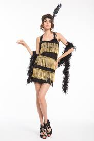 5 Colors Sexy Tassel Fringe Dress Flapper Girl 20s Retro Costume Halloween 2 2XL In Stock Costumes From Novelty Special Use On