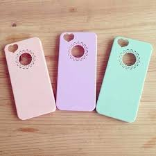 iPhone 4 4s 5 5s Cute Heart Plastic Back Cover Case