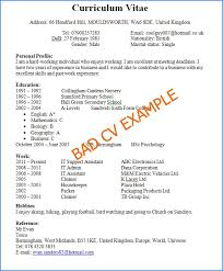 How To Write A Excellent Resume by Exles Of And Bad Resumes