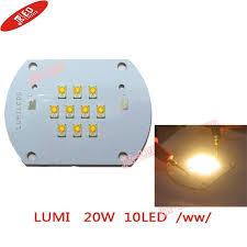 free shipping 2pcs 20w lumileds led emitter bulb warm white color