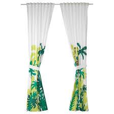 djungelskog 2 gardinen raffhalter affe grün 120x300 cm