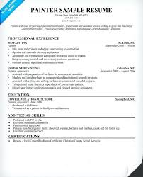 Painter Skills Resume Examples With Samples Co For Frame Inspiring Retail Assistant Managers 772