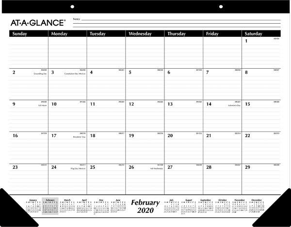 "At a Glance Ruled Desk Pad - 22"" X 17"""