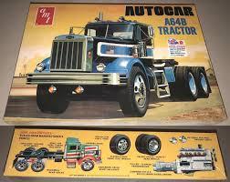 100 Model Truck Kits 2584 Amt Autocar A64b Semi Tractor 125 Scale Kit