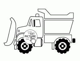 Snow Plow Truck Coloring Page For Kids Transportation Pages Printables Free